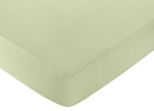 Sweet Jojo Designs Rileys Roses Fitted Crib Sheet for Baby and Toddler Bedding Sets - Solid Green