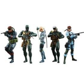 "Medicom Metal Gear Solid 20th Anniversary 7"" Figures - Set of 5 (All version Snake & Raiden)"
