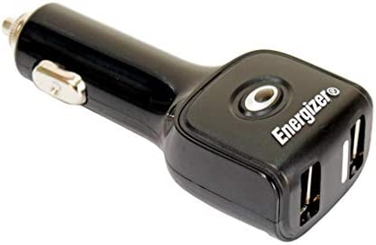 Energizer 12v 24v Car iPhone iPad Twin USB Charging Socket Adapter Charger 50507