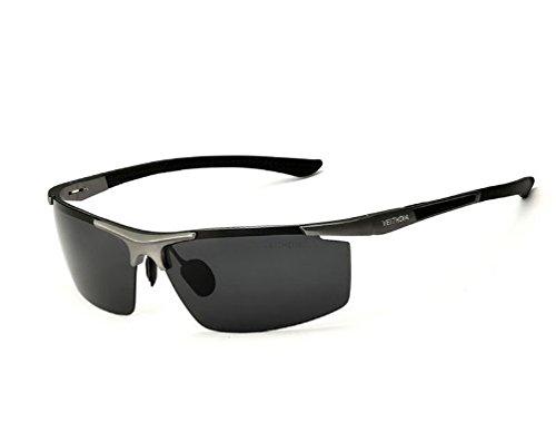VEITHDIA 6588 Aluminum Magnesium Sunglasses UV400 Polarized Sports Men Coating Mirror Driving Sun Glasses oculos Male Eyewear - Veithdia Sunglasses