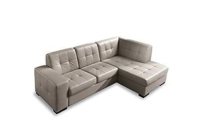 Sofá cama angular Mod. Delfín con chaise longue DX tela ...