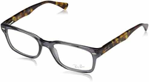 d4b14944197 Ray-Ban Women s 0rx5286 No Polarization Square Prescription Eyewear Frame  Shiny Opal Grey 51 mm