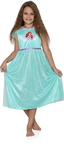 The Little Mermaid Ariel Girls Fantasy Gown Nightgown Pajamas (6, Green)