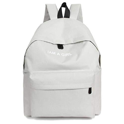 Teenage 1PC Boys Girls Unisex Canvas Backpack Women Travel Bag White