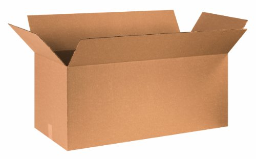Aviditi 361616 Long Corrugated Box, 36' Length x 16' Width x 16' Height, Kraft (Bundle of 15)