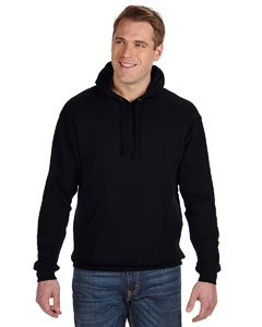 - J. America Men's Tailgate Hoodie Sweatshirt, Black, Large
