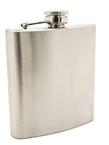 6oz Primo 18/8 #304 Stainless Steel Premium/Heavy Duty Hip Liquor Flasks - 50% Thicker Than Other Flasks
