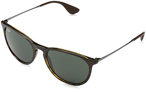 Ray-Ban RB4171 Erika Round Sunglasses, Light Tortoise/Green, 54 mm (Erika Ray-ban)