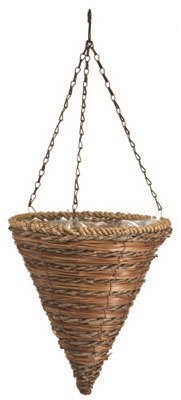 Panacea Products 88636 Hanging Flower Basket, Cone Shape, Rope & Fern, 12-In. - Quantity 10 by Panacea Products by Panacea Products