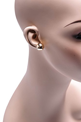 14K Real Gold Ball Stud Earrings Sizes 3 4 5 6 7 8 9 10 12 14 by MC Creations (Image #1)