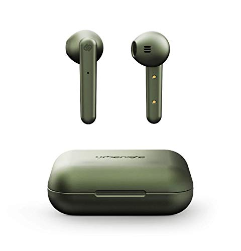 Urbanista Stockholm True Wireless Earbuds 14H Playtime Bluetooth 5.0 with Charging Case, Touch Controls & Dual Mic Earphones Compatible with Android and iOS - Green
