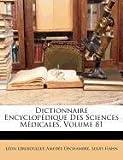 Dictionnaire Encyclopédique des Sciences Médicales, Léon Lereboullet and Lon Lereboullet, 1149802790