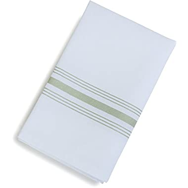Carlisle 53771822NH147 Restaurant Quality Cloth Dinner/Bistro Napkins, 18  x 22 , Sage Stripe (Pack of 12)