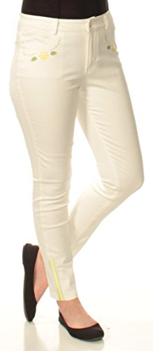Cynthia Rowley Embroidered Skinny Jeans (White, 8) from CR By Cynthia Rowley