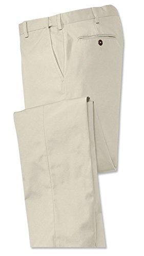 Orvis Poplin Expandable Comfort-Waist Pants - Plain Front, Stone, 38W X 29L