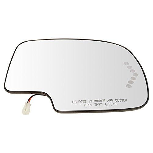 Mirror Glass Heated w/Turn Signal Passenger Side RH for Chevy GMC Cadillac