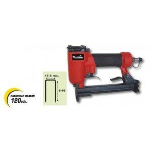 Kivec R8016/B - Grapadora para grapa de 80 de 6 mm a 16 mm Presión de trabajo 4,7 bar. 21,9 lt./min.: Amazon.es: Bricolaje y herramientas