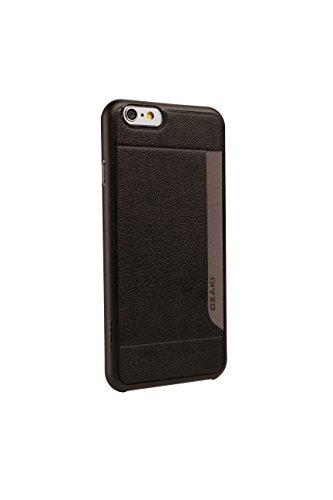 Ozaki Verse O!coat-Pocket Custodia Ultraslim con Tasca Porta Carte di Credito per iPhone 6, Nero