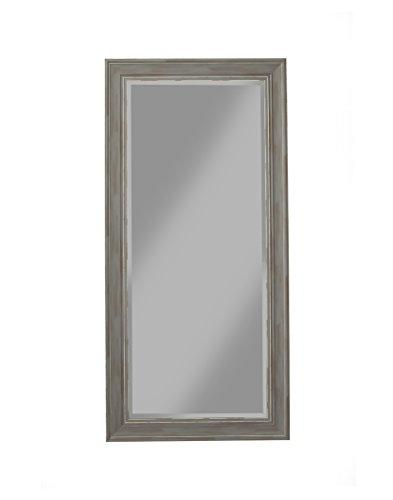 Sandberg Furniture 18311, Full Length Leaner Mirror, Antique Grey