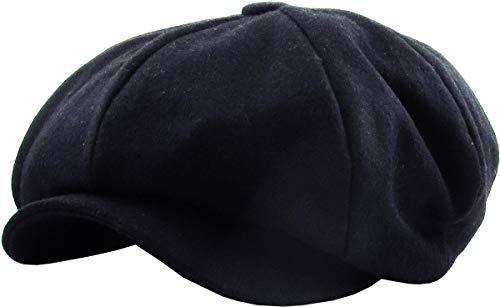 KBW-319 NAV L/XL Solid Oversized Applejack Ascot Ivy Newsboy Hat (Apple Jack Caps)