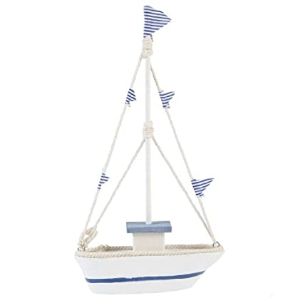 Gisela Graham azul y barca blanca de