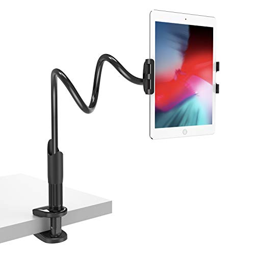 Gooseneck Tablet Holder, Lamicall Flexible Tablet Mount: Tablet Arm Holder Stand for Bed Compatible with Pad Mini Pro Air, Nintendo Switch, Samsung Galaxy Tabs, Fire 8 10 Most 4.7-10.5