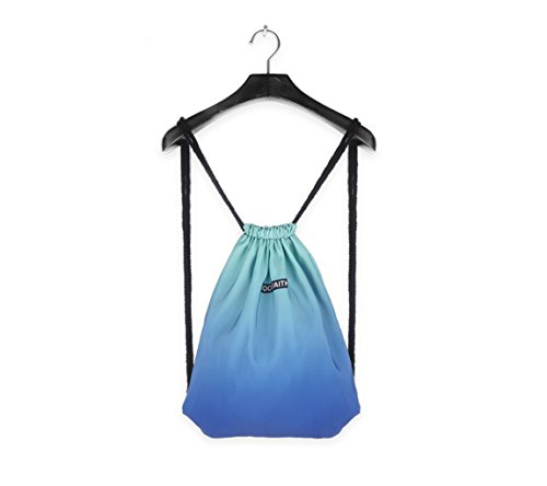 Drawstring Backpack Foldable Cinch Sack Basic Sackpack Gym Tote Dance Bag for Swimming Shopping Sports Women Men (Blueness)