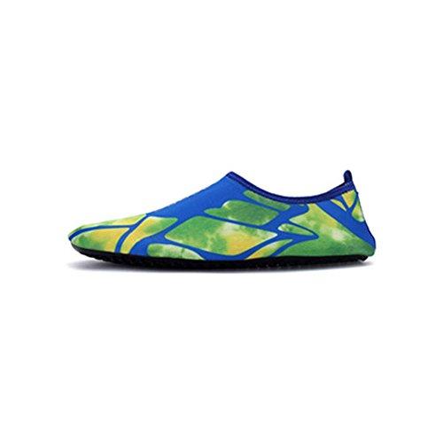 Damen Herren Aquaschuhe Strandschuhe Badeschuhe Surfschuhe Wasserschuh Schwimmschuhe Yoga Schuhe mit Mehrfarbe A