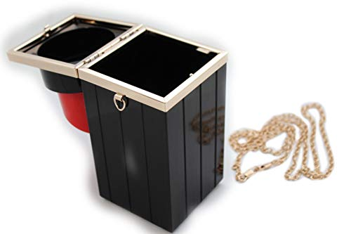 Purse Red Handbag Small Mini Black Lipstic Women Chain Gold Bag Evening Fashion aIU51wq