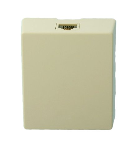 Leviton 4625A-24I 6P4C Screw Terminal, Type 625A2 Surface Mount Jack, Ivory ()