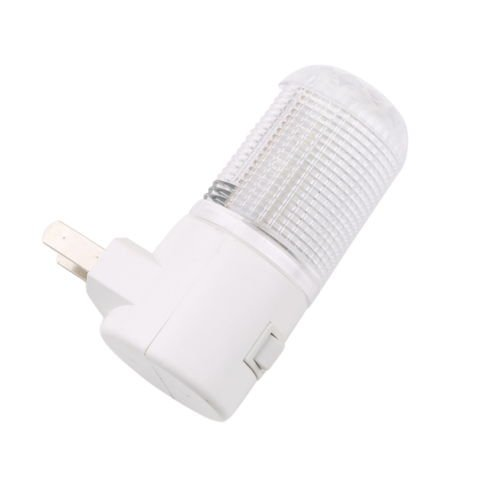 Alicenter(TM) 4-LED Wall Mounting Bedroom Night Lamp Light US Plug Lighting Bulb 1W F (1 Bedro)