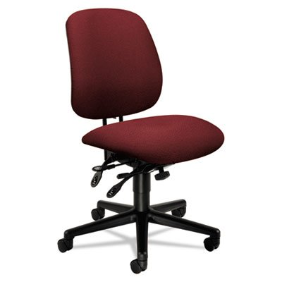 7700 Series Swivel - 7700 Series Asynchronous Swivel/Tilt Task Chair, Seat Glide, Burgundy, Sold as 1 Each