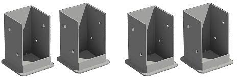 New England Arbors Bolt Down Bracket Kit for Pergolas (2-(Pack))
