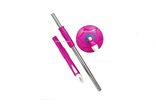 Glitter Collection Winberg Mop 360� Spin ,Stainless Steel Rod Stick Rotating Pole,Cleaning Mop, Rodpink01
