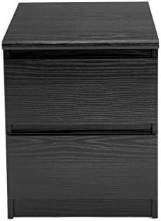 Tvilum Scottsdale 2 Drawer Nightstand Black Wood Grain Furniture Decor