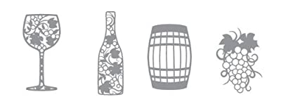 Karen Foster Design, Thin-ments Metal Scrapbooking Embellishment, Winery