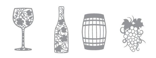 Karen Foster Design, Thin-ments Metal Scrapbooking Embellishment, Winery ()