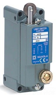 Square D 9007AW NEMA Heavy Duty Industrial Limit Switch, Oil Tight Enclosure, Cross Roller Plunger Operator w/Micrometer Adjustment, Surface Mount, Non-Plug-in Deep Box, 2 NO + 2 NC