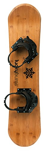 Lucky Bums Heirloom Collection Youth Kids Wooden Snowboard, 95 cm