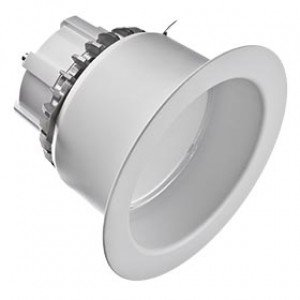 Cree Lighting LR6-GU24 6'' LED Downlight w/Trim, 120V, 2700K, White-2PK