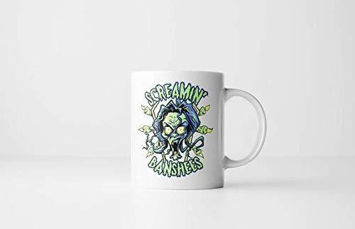 The Screamin' Banshees 11 oz Coffee Mug - Halloween Mug, Monster Mug, Irish Folklore, Banshee Ghost Spirit Phantom Horror Mugs ()