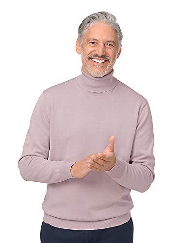 Paul Fredrick Men's Pima Cotton Turtleneck Sweater Misty Lavender 3XL