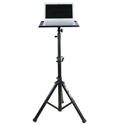 Stand Projector Table - Hola! Music HPS-300B Heavy Duty Professional Multi-Purpose DJ Tripod Stand - Laptop Stand, Projector Stand, Mixer Stand and other Audio Equipment