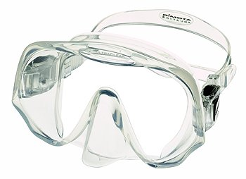 Atomic Aquatics Frameless Mask for Scuba Diving and Snorkeling, Clear, Standa.