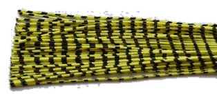 Archery ZEBRA WHISKER RUBBER BOWSTRING BOW STRING SILENCERS 4 Pc. Pack - NEW HOT COLORS ! (Chartreuse-Black)