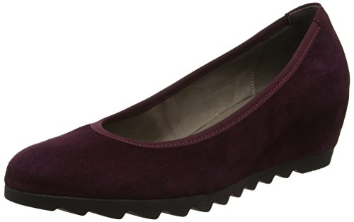 Gabor Request Womens Modern Wedge Court Shoes Red (15 New Merlot)