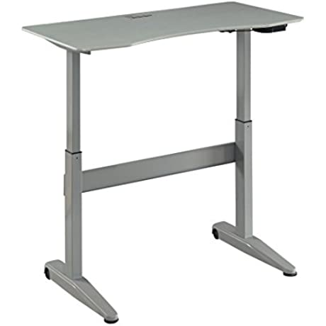 HOMES Inside Out IDF DK6092GY L Agate Adjustable Desk Not Applicable Large Gray