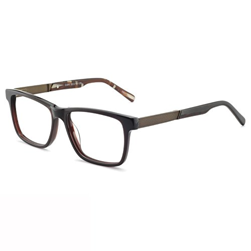 OCCI CHIARI Optical Eyewear Frame Non Prescription Eyeglasses Classic Clear Lens Glasses Brown