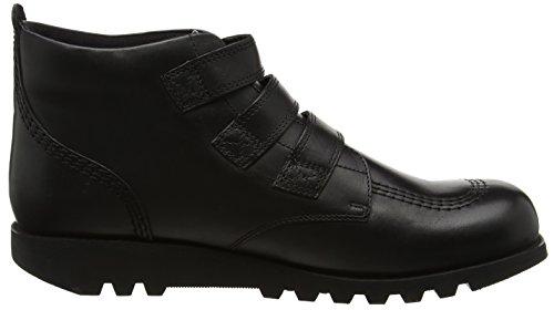 Kickers Heren Zwart Lederen Kick 3 Strap Schoenen