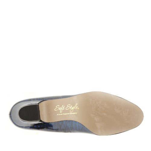 Soft Style by Hush Puppies Angel II Fibra sintética Tacones Navy Lizard Patent
